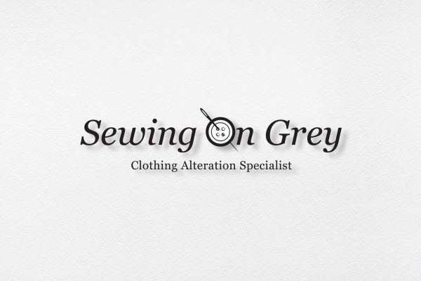Sewing On Grey